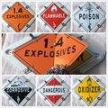 Универсальный 6 видов взрывчатых веществ для грузовиков  воспламеняющийся яд  окислитель  КОРРОЗИОННЫЙ опасный предупреждающий знак