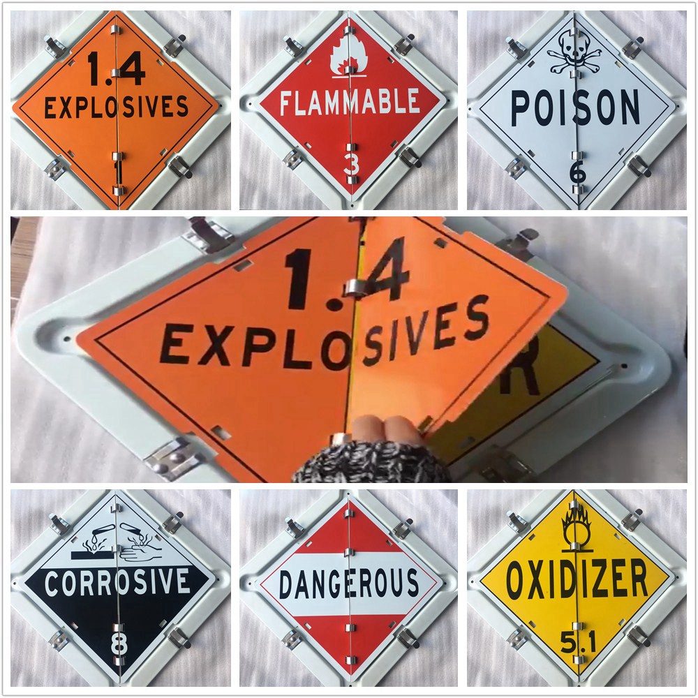 Universal 6 kinds Truck Explosives Flammable Poison Oxidizer Corrosive Dangerous Warning Sign