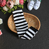 2017 Spring And Summer Black And White Striped Girls Leggings Kids Pants New Arrival Children Trousers
