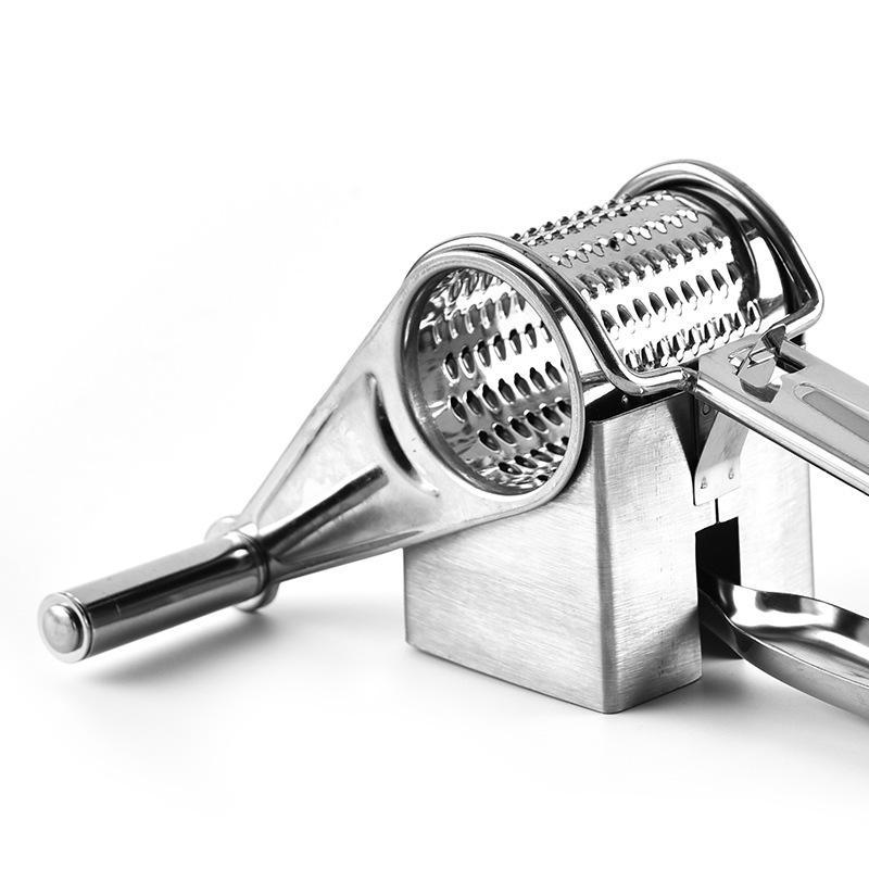 Hand-Cranked Cheese Grater Rotary Cheese Graters Ginger Chocolate Cutter with Stainless Steel Drum Dropshipping