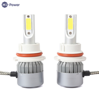 Hi Power 2Pcs Set Universal Car Headlight Kit C6 Silver 6500K 3200LM 36W H1 H3 H7
