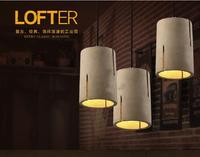 SN0021 Cylindrical hollow cement concrete lampshade silicone mold DIY chandelier loft creative personality cafe bar lamp moulds