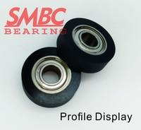10pcs [PU623 15]3*25*4Free shipping 10PCS Polyurethane PU Rubber Bearing 623zz sorting machine sliding roller pulley