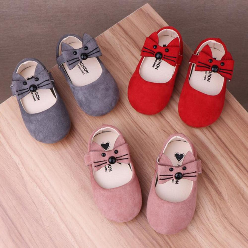 Fashion Girls Shoes 2019 Summer SandalsNewborn Girls Cartoon Leather Shoes Soft Sole Shoe Suede Bow Small Shoes Niechodki A1