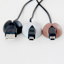 6Pcs/Lot Creative gadgets Multipurpose Fixed Wire Clip Organizer Cable drop Clip Tidy USB Charger Cord Holder desktop