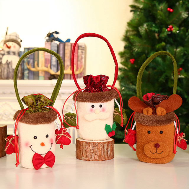 Christmas Candy Decorations.Us 1 02 30 Off Christmas Candy Party Gift Bag Decorations Xmas Storage Packing Wrapper Supplies New Year Christmas Decorations Ornaments In