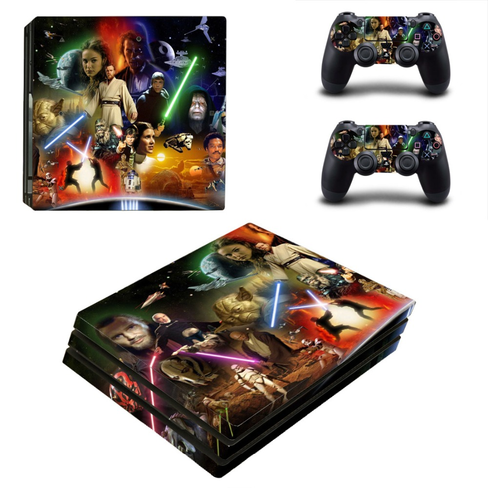 PS4 Pro Skin Sticker Cover For Sony Playstation 4 Pro Console and Two Controllers Skins - Star Wars
