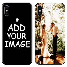 DK Custom Personalized Make your Photo images pattern Phone Black Sotf TPU Cover Case for iPhone 6 6S 7 8 Plus 5s 5 X XR XS MAX