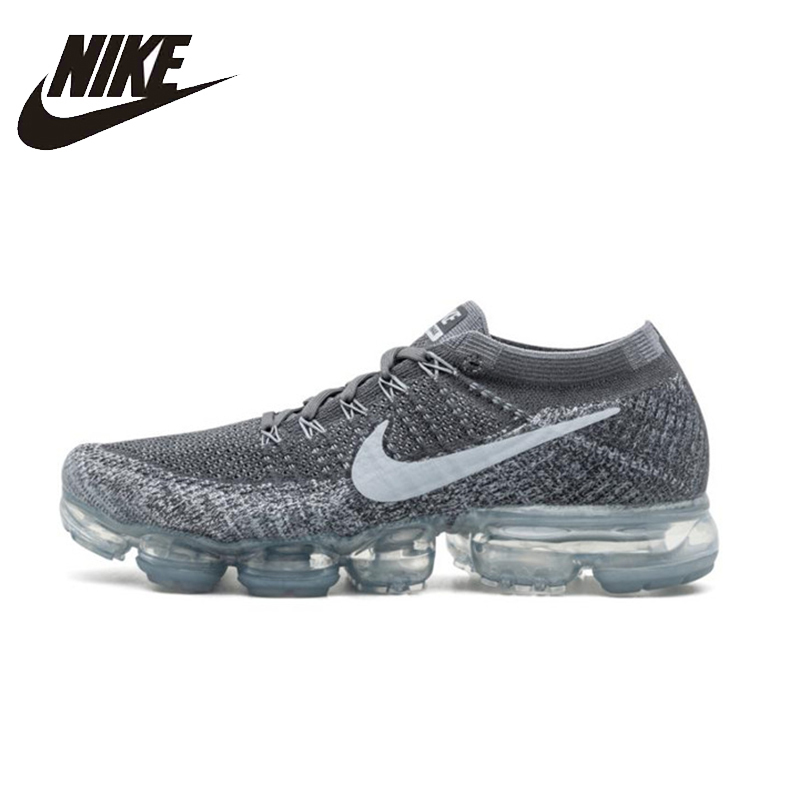 NIKE Air Vapor max Flyknit оригинальный Для мужчин s кроссовки сетка дышащий стабильность легкие кроссовки для Мужская обувь #849558- 002