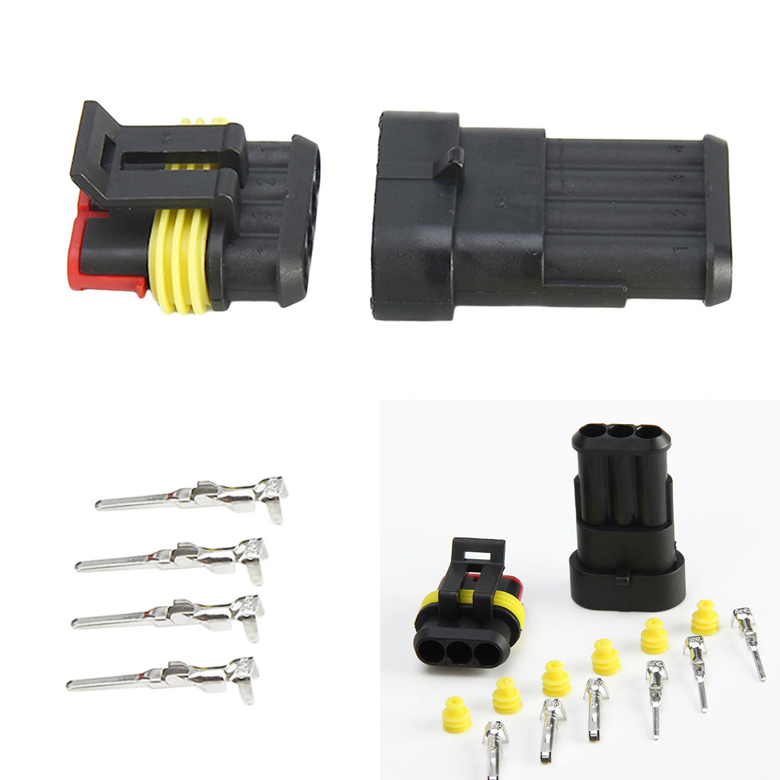 Waterproof 1/2/3/4/5/6 Pin to Choose Seal Electrical Automotive Wire Connector Plug Terminals for Car marking tools