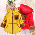 New Child Sweater Girl Cotton Little Bear Jacket Children Winter Outwear Kids Baby Candy Color Warm Coat Roupa Infantil Feminina