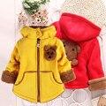 Nueva Niña Suéter Niña Chaqueta de Invierno Los Niños Outwear Niños Del Bebé de la Osa menor Cotton Candy Color Cálido Abrigo Infantil Roupa Feminina