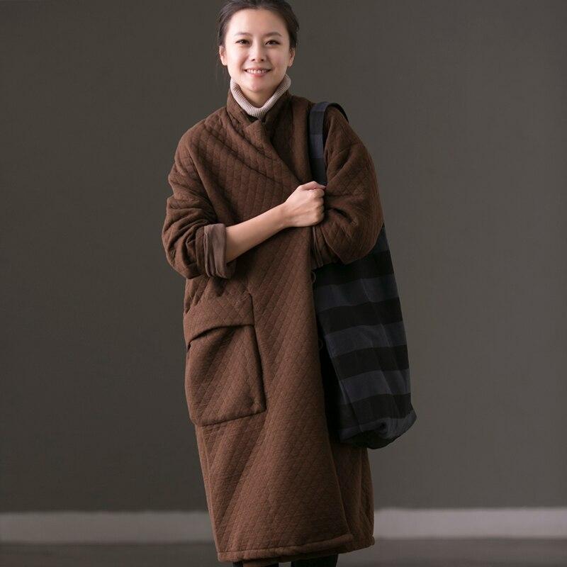 velvet Déplacements Coton Grandes Manteaux Poches velvet Facile ga W7251b Color Green coffee En D'hiver qxPtUx1F