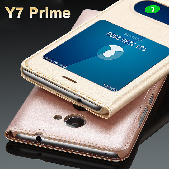 sports shoes 968da 29e23 US $4.39 12% OFF|Huawei y7 prime Case cover Luxury PU Leather Cover Flip  Case For Huawei y 7 prime Case huawei Y7 prime Protection Phone Cases-in  Flip ...