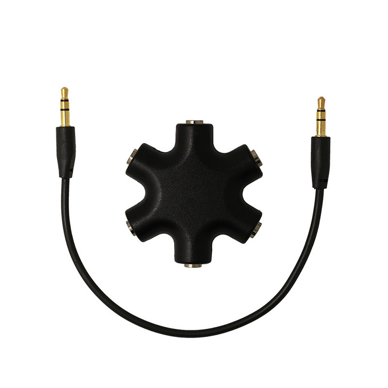 1PC Black New 3.5mm Earphone Headphone M 1 to 2 3 4 5 Dual For Audio Splitter Cable Adapter Jack