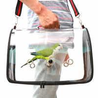 Recentemente Leggero Uccello Carrier Cage Trasparente in Pvc Trasparente Traspirante Pappagalli Borsa da Viaggio XSD88