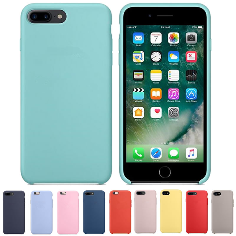 Funda Original de silicona con Logo 8 para iPhone 7 Plus 6 6 s funda de teléfono para Apple iPhone X 7 8 Plus caja de venta al por menor