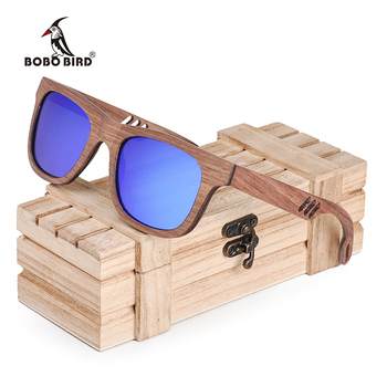 BOBO BIRD Wood Sunglasses Men Women Luxury brand wooden Fashion Sun Glasses Ladies W-hAG029 1
