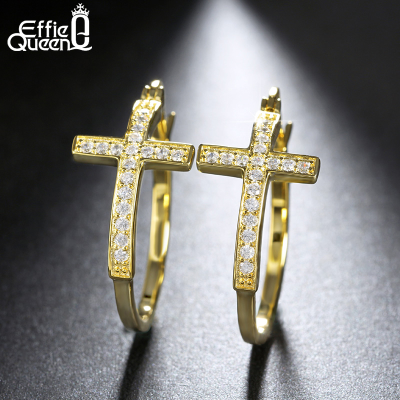 Effie Queen Hot Πώληση Μεγάλα Hoop Σκουλαρίκια - Κοσμήματα μόδας - Φωτογραφία 3