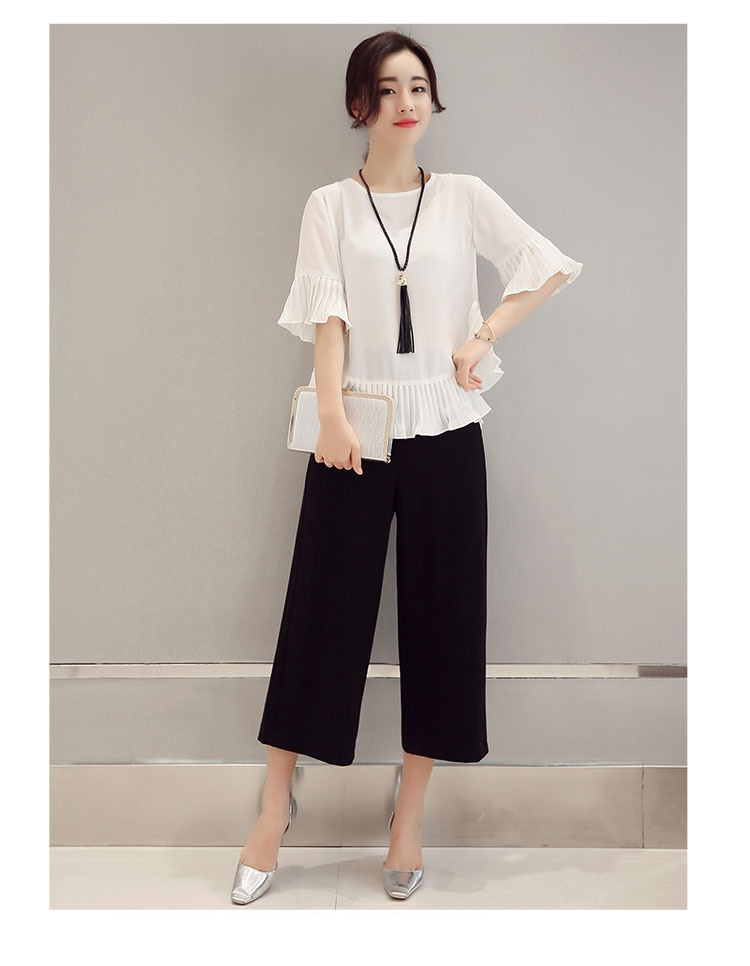 4ef6519442bc tnlnzhyn 2019 Spring Summer Women Suit 2 pieces Set loose flare ...
