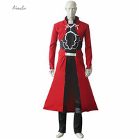 Ainclu Free Shipping Fate Stay Night Unlimited Blade Works Archer Emiya Red Whole Set Cosplay Brand Costumes