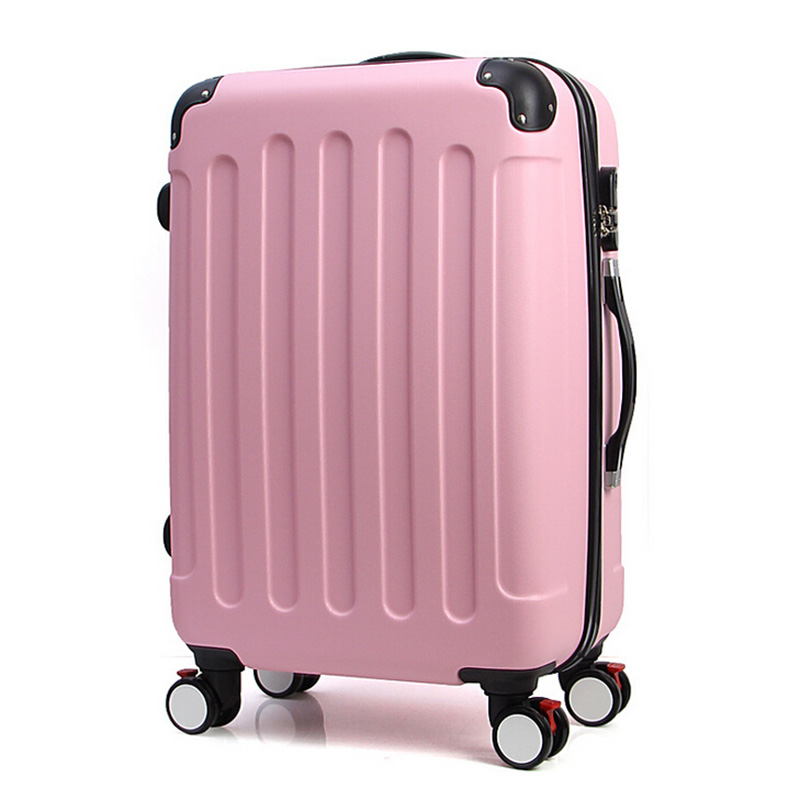 20 24 Inch Travel Suitcase On Wheels Luggage Spinner ABS Trolley Travel Bags Rolling Luggage Carry On Luggage Boarding Box luggage 2pcs set 14 inch and 20 22 24 26 inch box rolling suitcase universal wheel travel box password girl luggage bags trunk