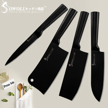 SOWOLL Stainless Steel Kitchen Knife Set Cleaver Nakiri Butcher Utility Japanese Cook's Knife Tools Hollow Handle Carbon Steel(China)