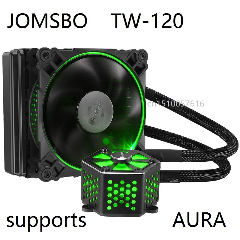 Fans & Cooling Jonsbo Tw-120 Tw120 Rgb Dual Mode Color Control Integrated Water Cooled C-p-u Cooler Aura Relieving Heat And Thirst. Fan Cooling
