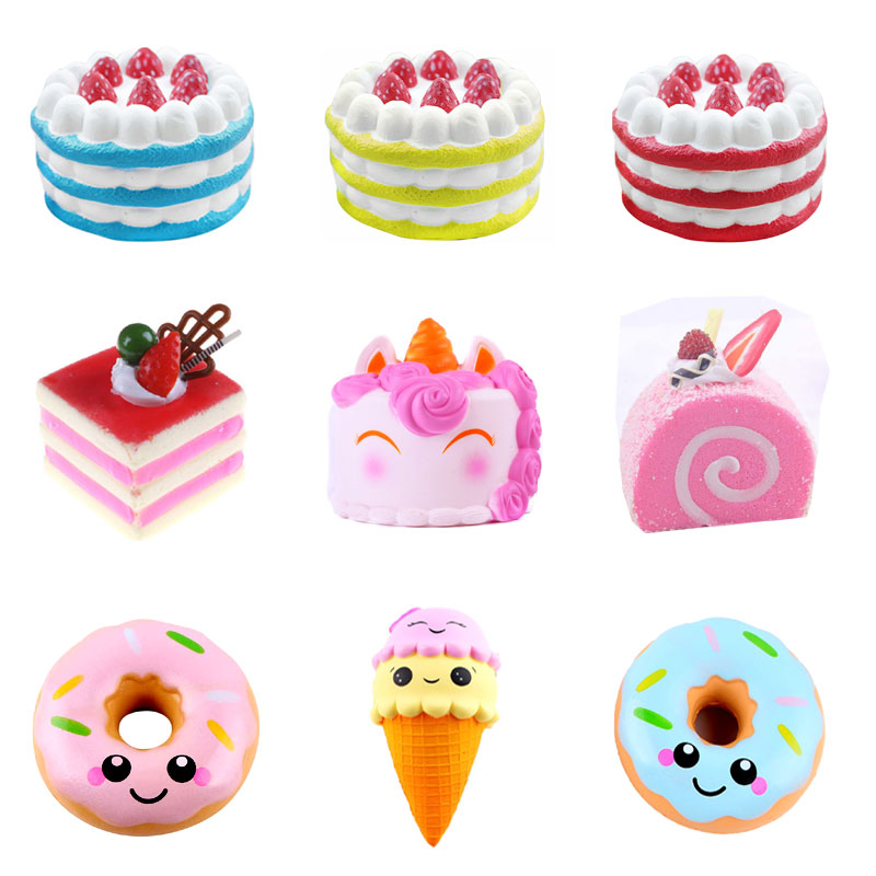 цена на Squeeze Squishys Galaxy Cute Cake Cream Scented Squishy Funny Unicorn Anti Stress Novelty Antistress Toys Gift Stress toys