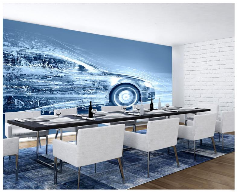 3d wallpaper 3d murals wallpaper for walls 3 d Beautiful Dynamic modern car TV setting w ...
