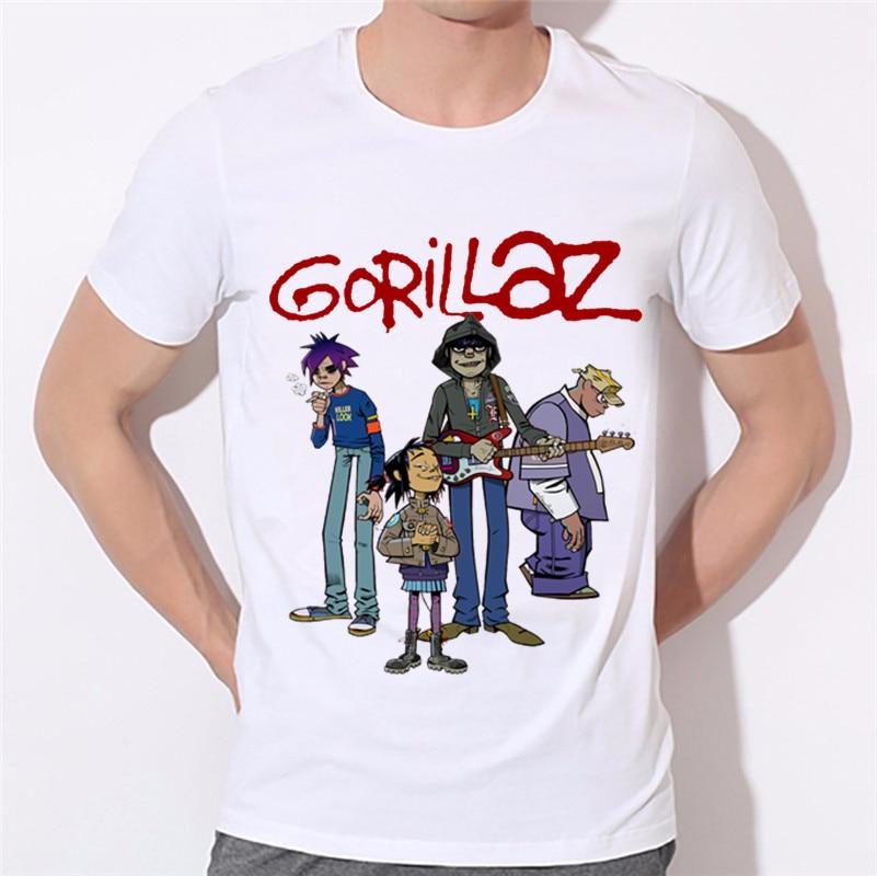 9cdecddd Αγορά Μπλούζες & μπλουζάκια | Ready Stock,Men's Gorillaz Rock Band ...