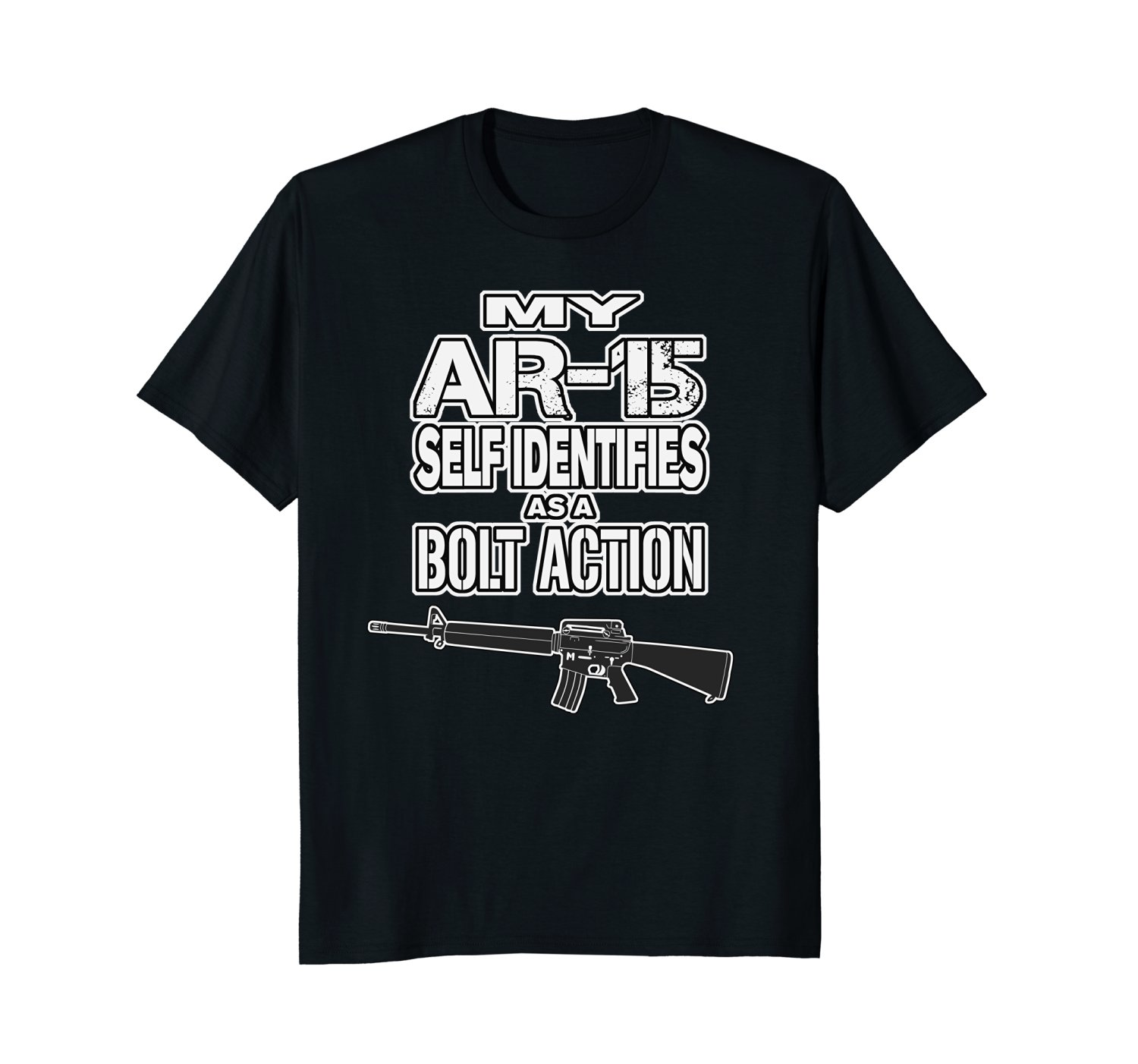 2019 New Brand Cheap Sale 100 % Cotton Pro Gun Shirts My AR-15 Self Identifies As A Bolt Action Graphic Shirts image