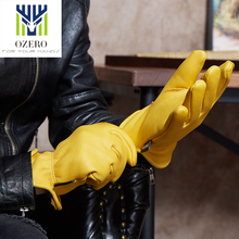OZERO The fashion Deerskin Motorcycle gloves Sports Gloves Anti Cold Slip Snowboard Cycling Climbing Hiking For Men