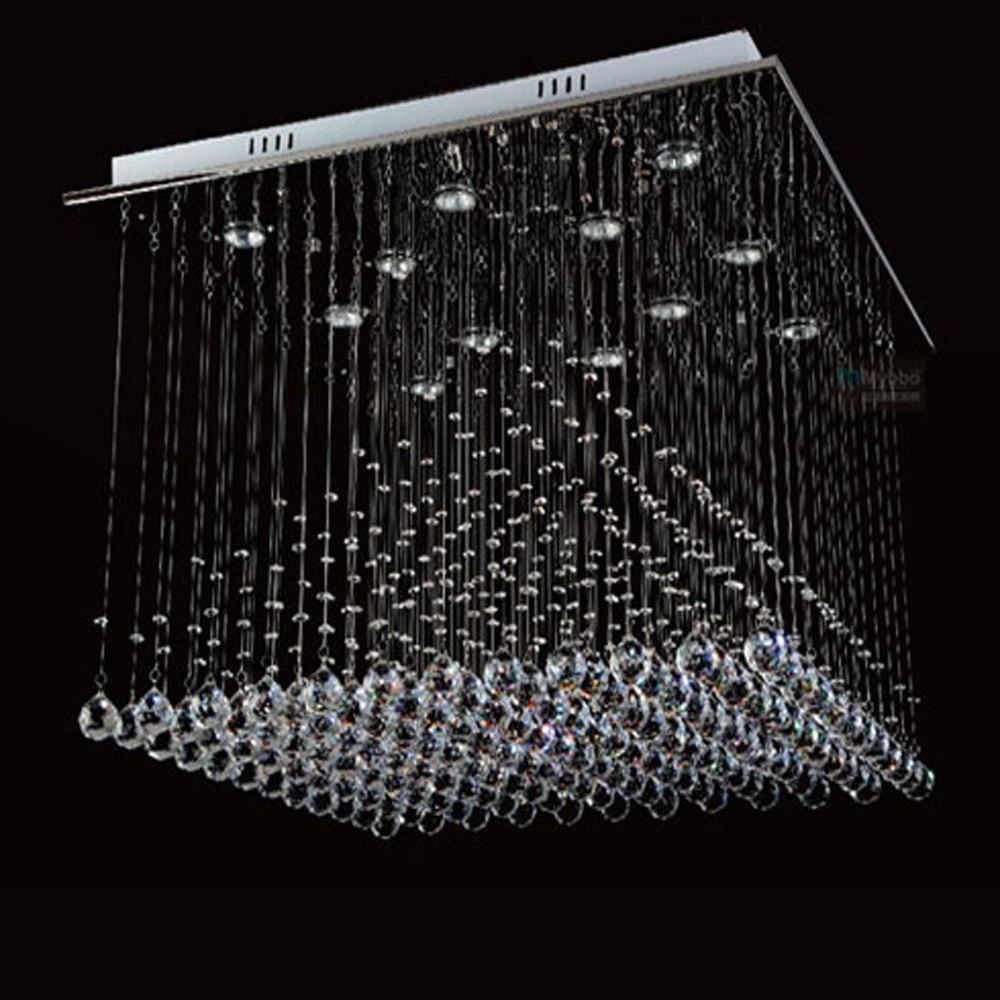 Luxury Large Modern Crystal Chandelier Lights Square 800mm