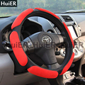Hot Sale Suede Fabric Auto Car Steering Wheel Cover 38CM Anti-Slip High Quality Fashion Comfortable Leather Interior Accessories