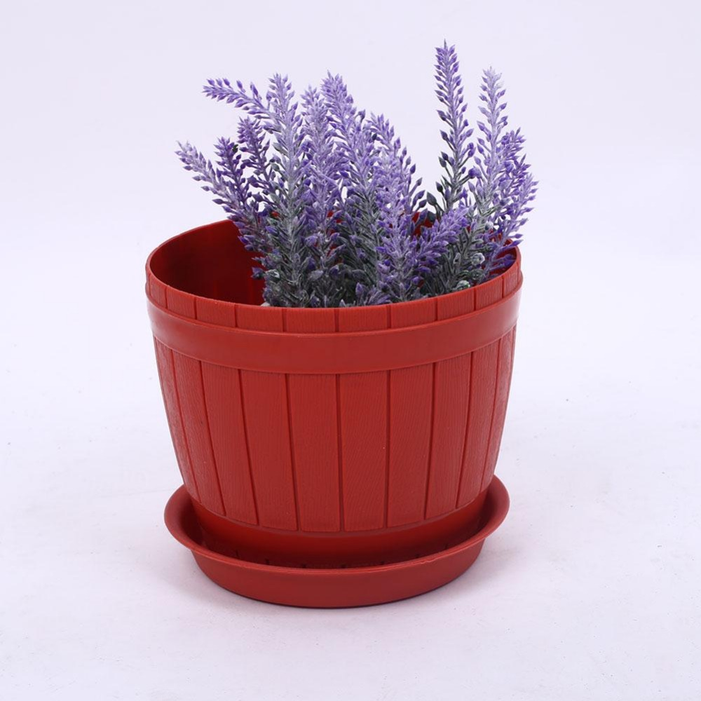 2017 New Pattern Garden Pot Container Flower Pot Container With Tray  Brown(China)