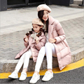 Kids Winter Clothes Children's Cotton Jacket Christmas Boys Down Coat New Year Matching Mother Daughter Clothes Snowcovered Park