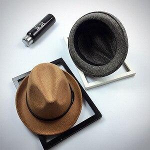 Image 3 - Fibonacci 2017 New Fedoras Fashion Wool Felt Solid Color Jazz Small Hat Men Womens Popular Vintage Fedora
