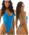 2016 Venta Caliente Sólido Sexy tanga una pieza de baño Mujeres body alta out traje de Baño Sin Respaldo Monokini Ropa de Playa