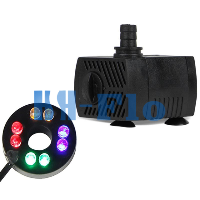 8 leds 4 w aquarium waterpomp fall hydrocultuur dompelpomp aquarium fontein pomp met led verlichting