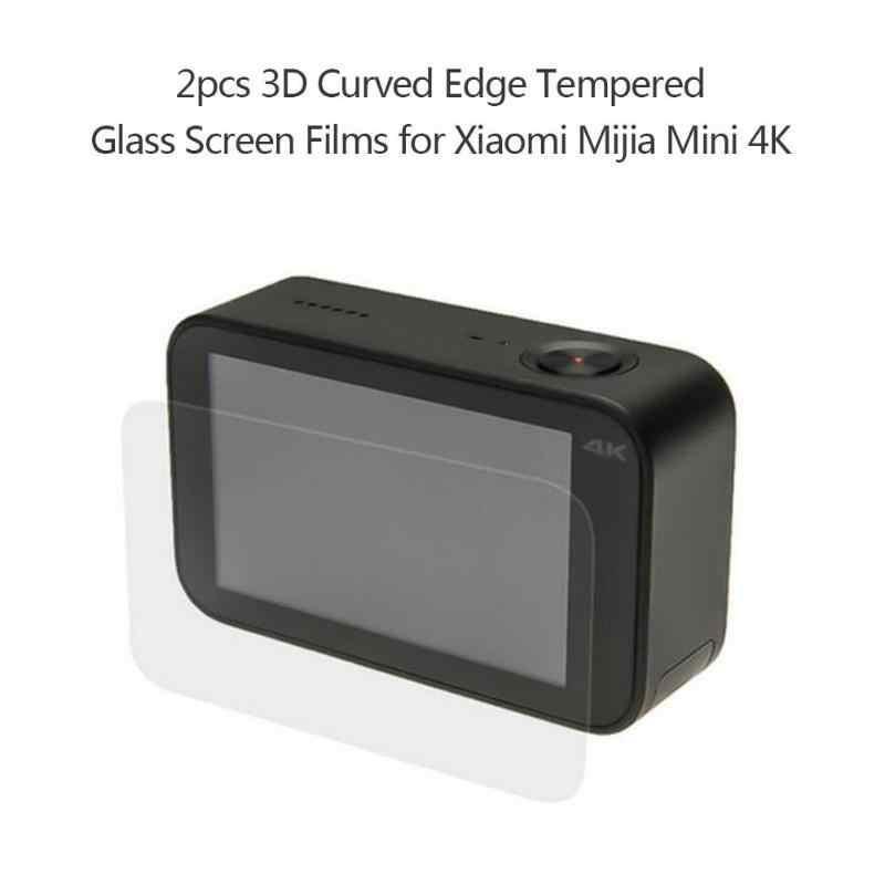 2pcs 3D ขอบโค้งฟิล์มกระจกนิรภัยสำหรับ Xiaomi Mijia Mini 4K
