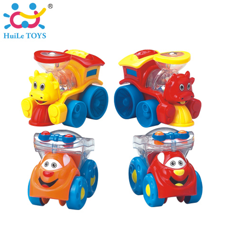 6PCS/Lot HUILE TOYS 706 Wholesale Kids Pull Back Car Toys for Boys Racing Car Baby Mini Cars Cartoon Bus Toys for Children