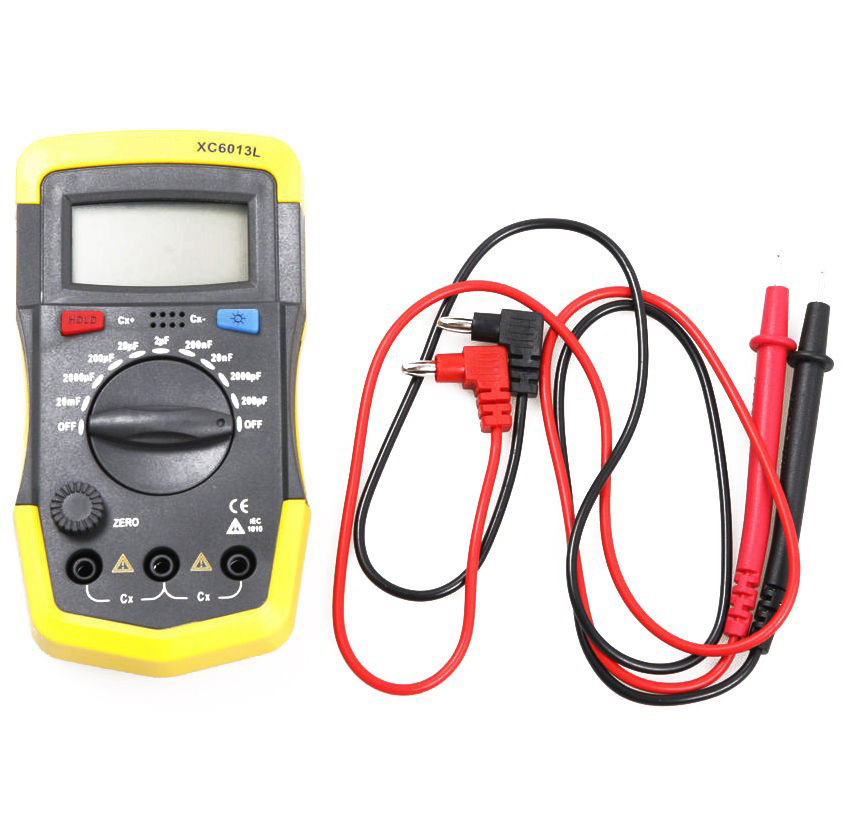 Multimeter LCD Digtital Meter XC6013L Capacitance Capacitor Tester mF uF Circuit Gauge Capacitance Meter Tester Multimeter