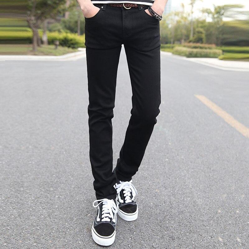 Cotton Mens Jeans 28 29 30 31 32 33 34 36 Pure Color Fashion Casual Black Blue Men Trousers Popular Comfortable Best Choice