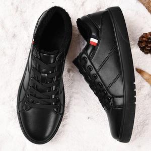 Image 2 - SUROM erkek deri rahat ayakkabılar klasik moda erkek Lace up Flats siyah beyaz erkek Krasovki düz topuk Sneakers tenis masculino