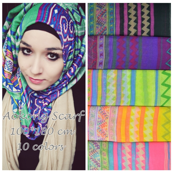 5 Assorted Colors 100/% Rayon Scarf Women Ladies Shawl Scarf
