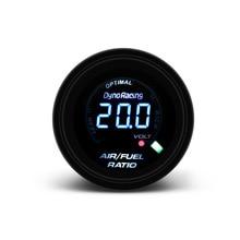 2 Inch 52mm 20 Leds Digital Car Air Fuel Ratio Gauge Racing Meter Analog Indicator Smoked 12V Meter/Auto gauge
