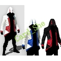 Assassins creed 3 Connor Anime Cosplay Kenway Hoodie homem Jaqueta Traje Cosplay