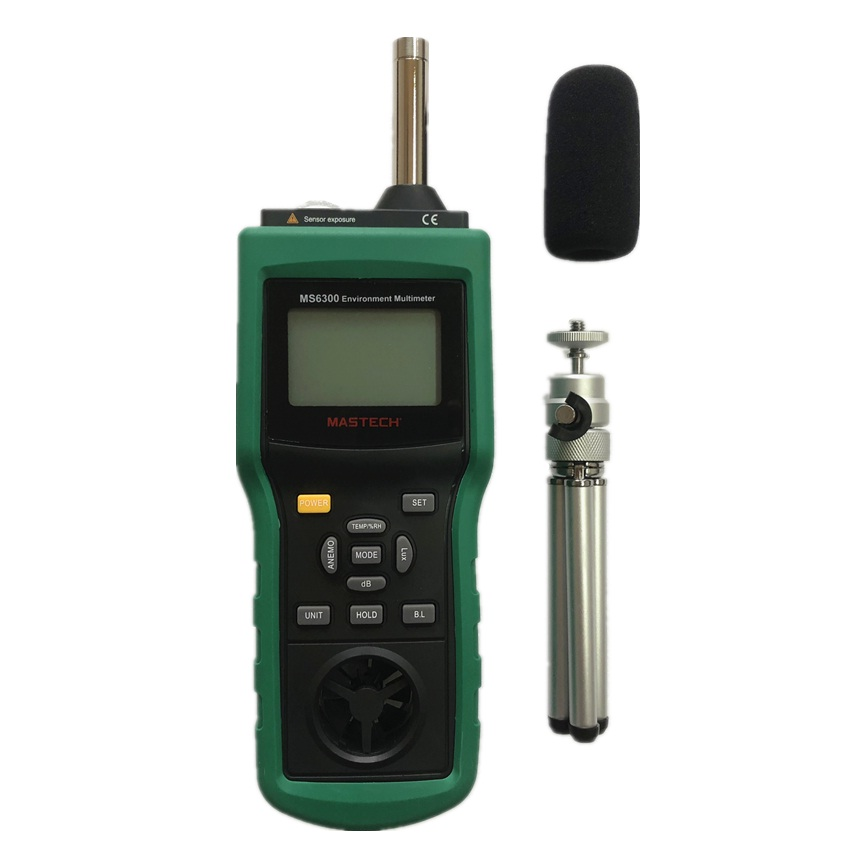 MASTECH MS6300 цифровой многофункциональный, окружающая среда метр Температура влажности уровень звука воздушного потока метр Люксметр Анемометр - 3