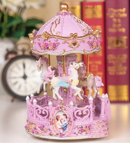 HOT SALE] Colorful lights Continental carved carousel Double